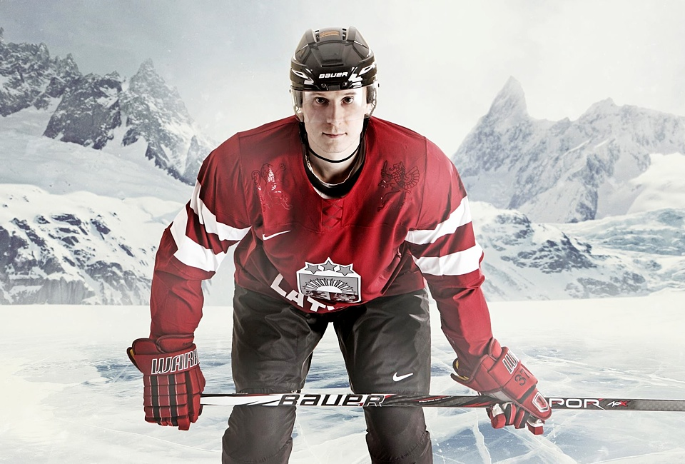 The Latvian Ice Hockey Federation shared this Nike publicity photo on their Facebook page.