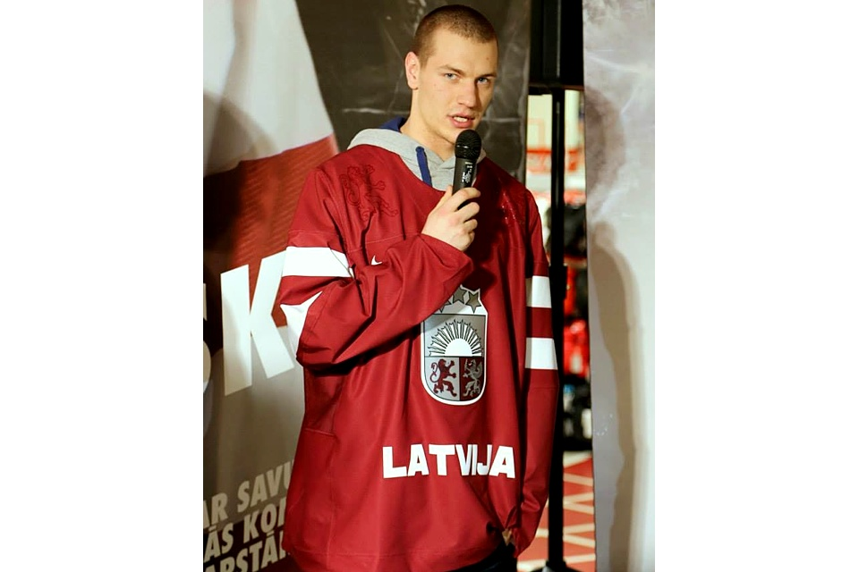 The new jersey looks a lot like what Latvia wore in 2010, only simplified. Seems to be the name of the game for Nike this year.