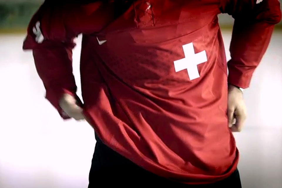 Nike got some of its creative mojo back for Switzerland by moving the shiny embellishments from the shoulders to the chest stripe.