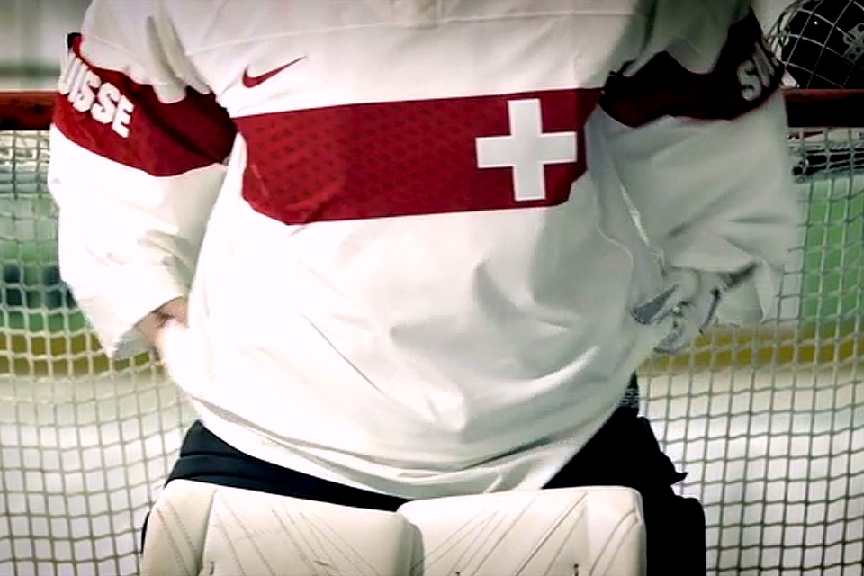 That stripe is literally the only thing happening below the neck of this jersey.