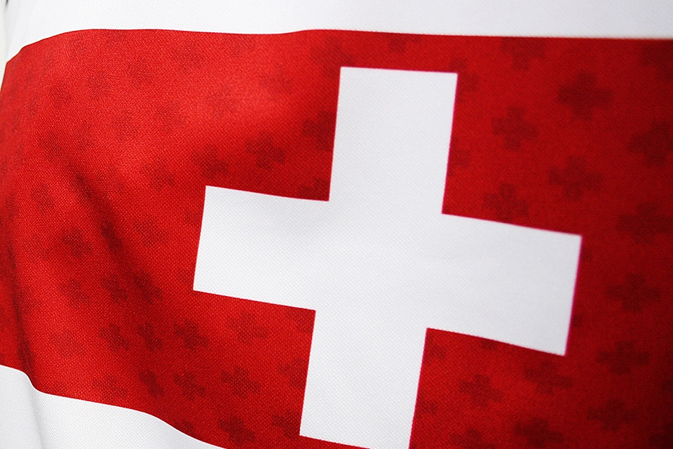 The embellishments on other jerseys are shiny. Will the Swiss get a different treatment, or is the replica off?