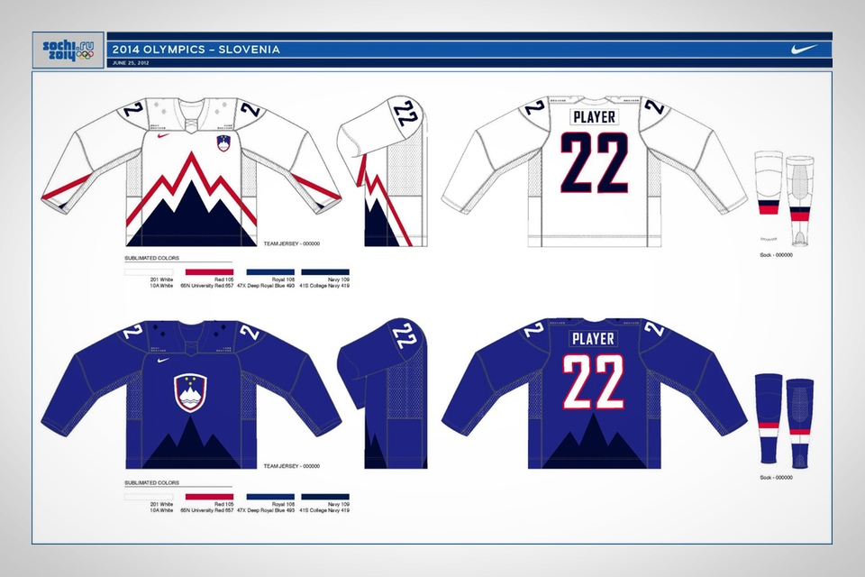 A prototype design was released on the Slovenian hockey team's Facebook page in Feburary 2013.