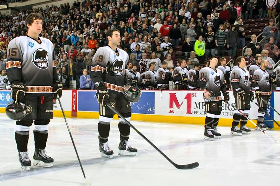 Photo from  Hershey Bears  via Facebook (JustSports Photography)