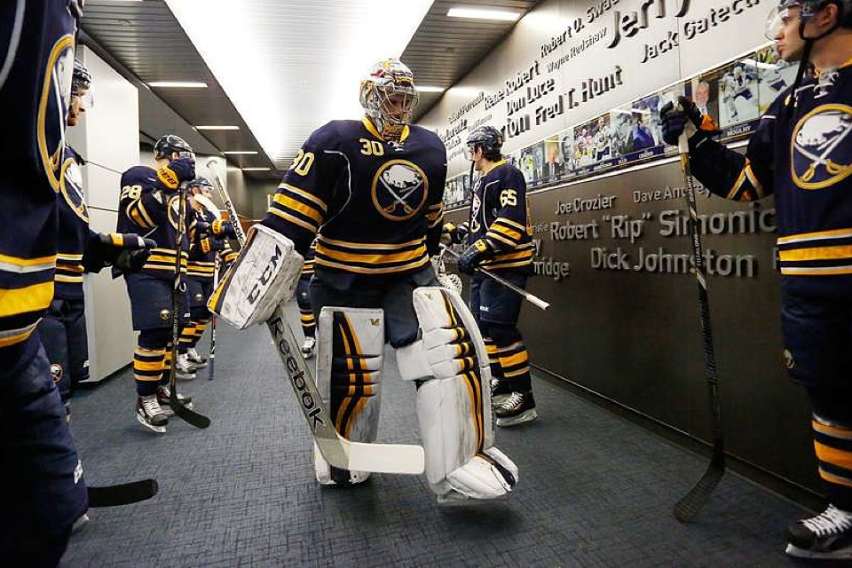 On Feb. 5, the Sabres wore their standard home sweaters.