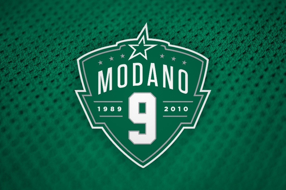 The Stars gave Modano's jersey retirement its own special branding with this logo.