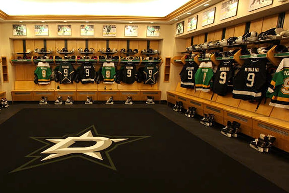 Love the variety in that locker room!