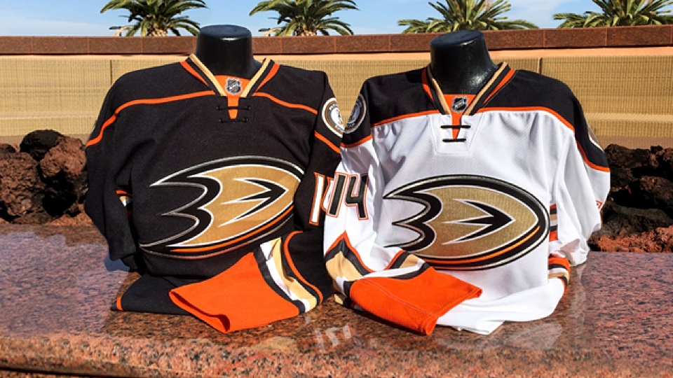 The Ducks will wear these beginning this fall. PHOTO: Anaheim Ducks