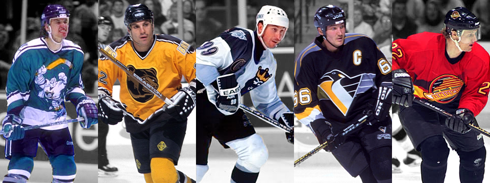 The NHL's original class of third jerseys, 1996