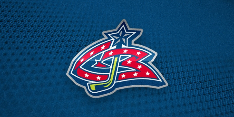 Columbus Blue Jackets logo by Ken Loh and Van Duong, 1997