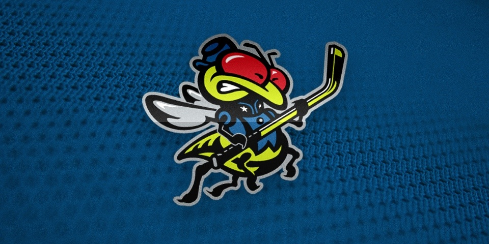 "Columbus Blue Jackets mascot ""Stinger"" by Ken Loh and Van Duong, 1997"