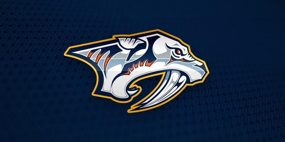 In 1998, the Predators entered the world with this on their chest. It had too many colors and too many intricate details. In 2011, both failures were rectified.