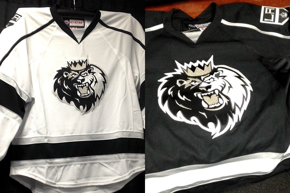 Monarchs' home and road jerseys, 2014— // Photos from LA Kings Insider