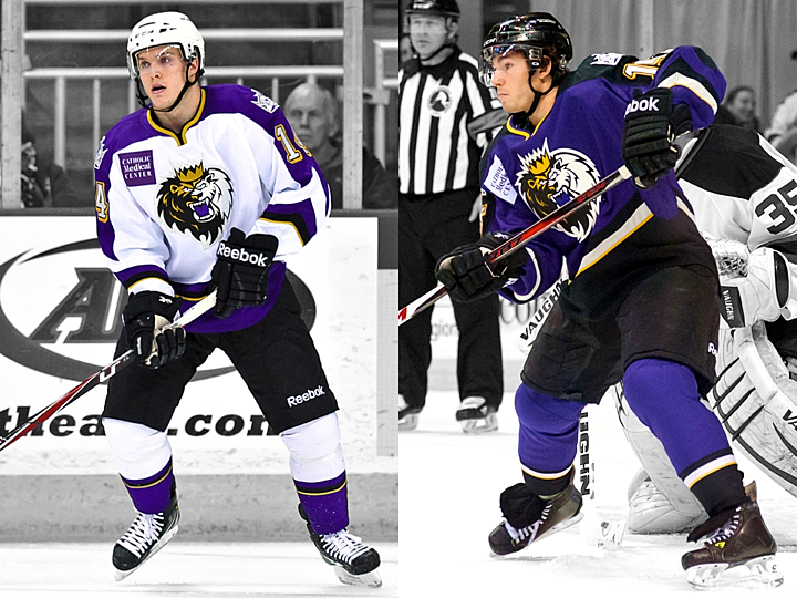 Manchester Monarchs home and road jerseys, 2010—2014