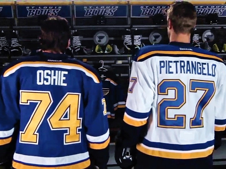 5a86c1da185 St. Louis Blues unveil new home and road uniforms for 2014-15 ...
