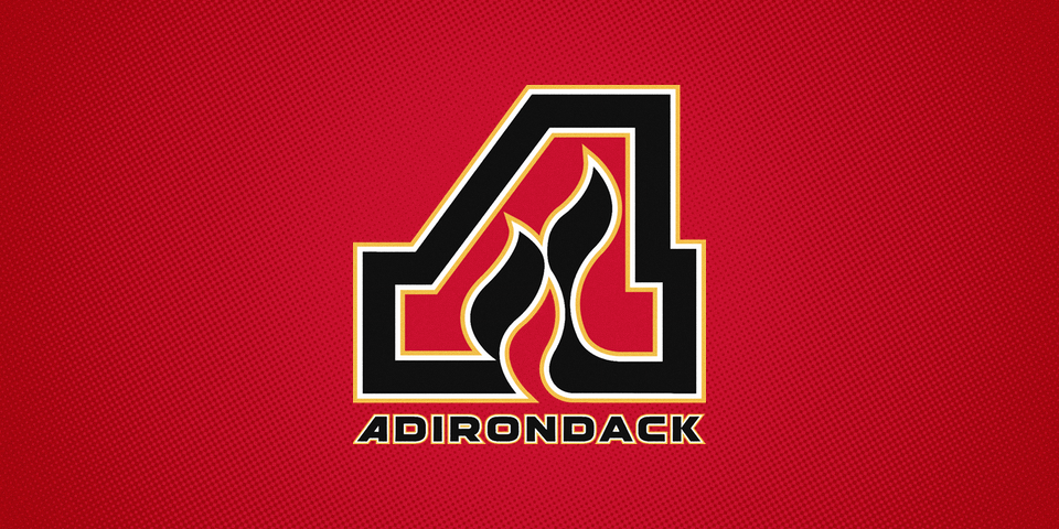Adirondack Flames road jersey crest, 2014—
