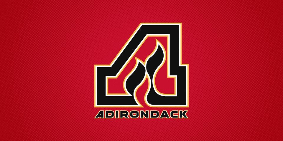Adirondack Flames road jersey crest, 2014—