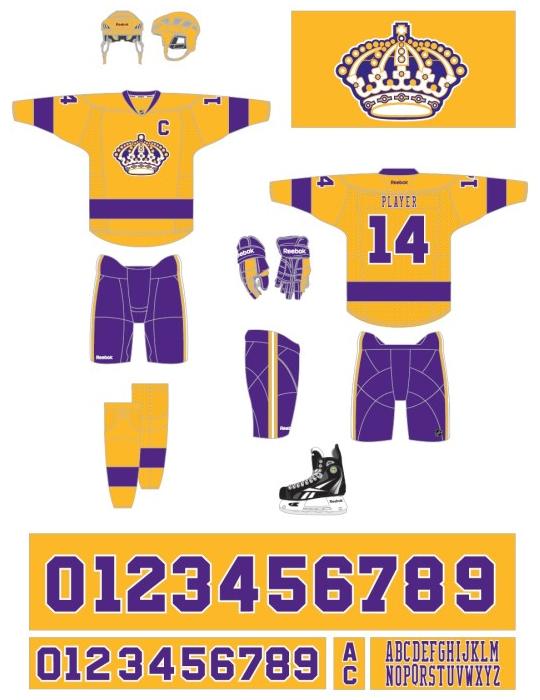 Los Angeles Kings throwback jersey, 2015—