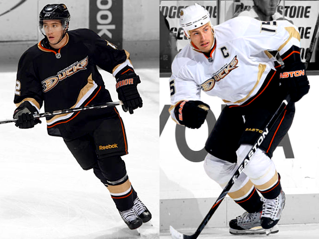 Anaheim Ducks primary uniforms, 2006—2014