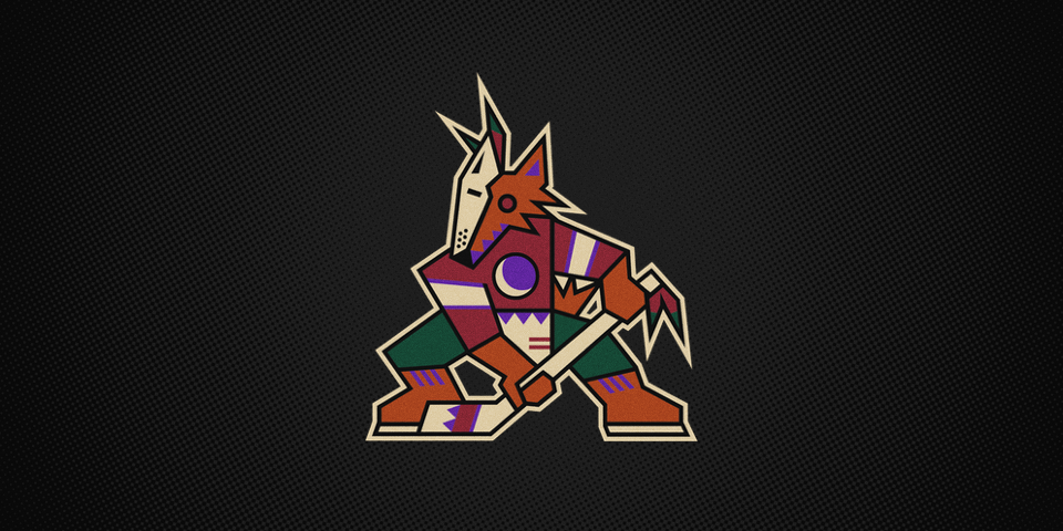 Phoenix Coyotes primary logo, 1996—2003