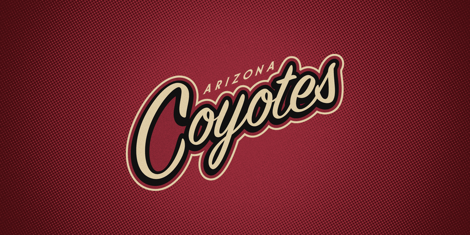 Arizona Coyotes wordmark, 2014—