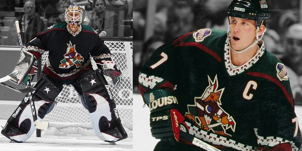 Phoenix Coyotes road uniform, 1996—2003
