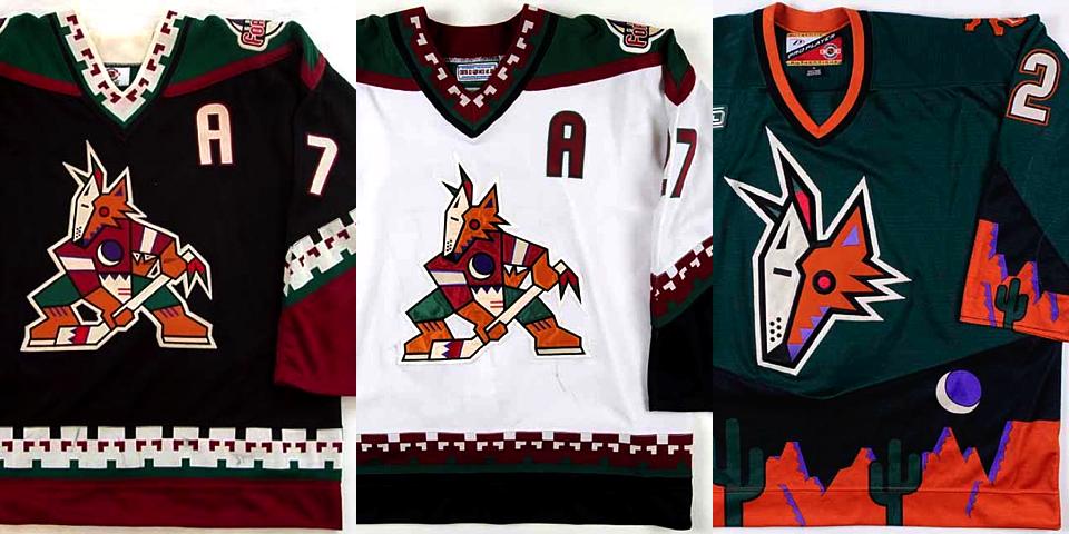 Coyotes jerseys, 1996—2003