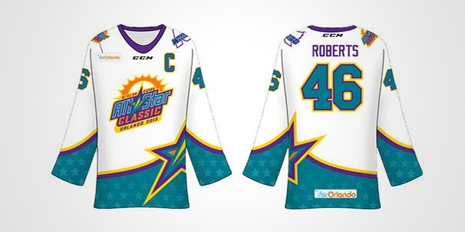 ECHL All-Star Team winning jersey design by Jordan Roberts