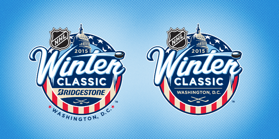 Branded and unbranded logos for the 2015 NHL Winter Classic