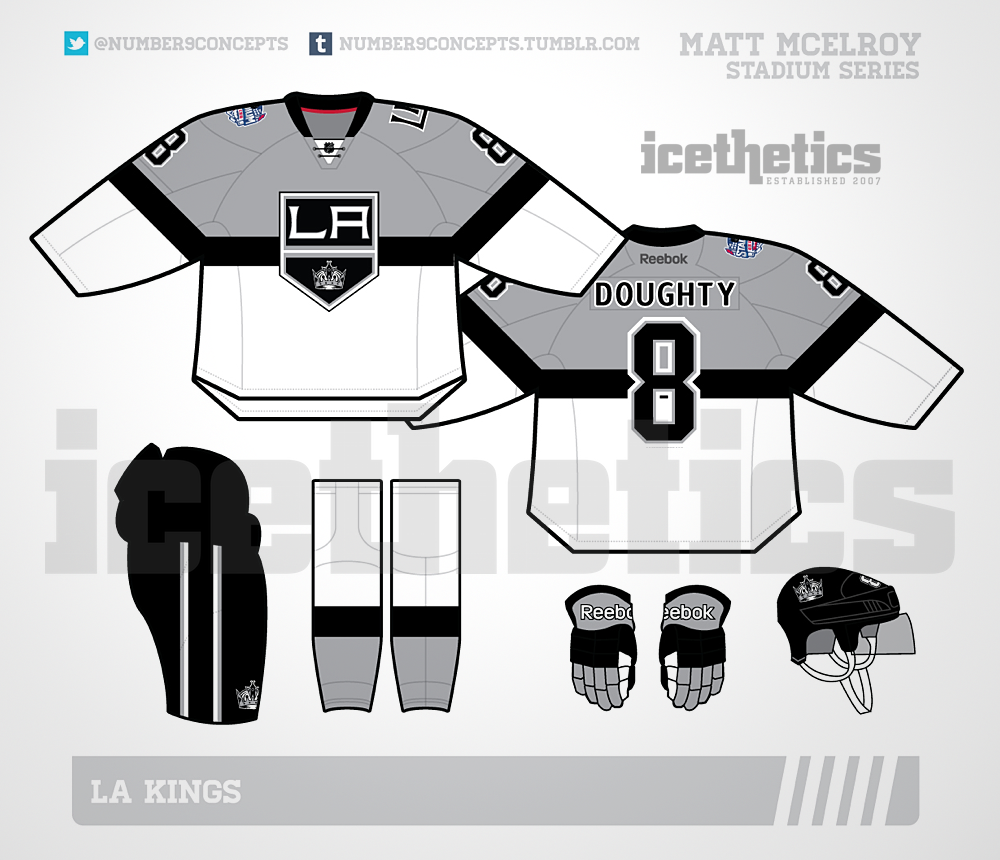 Los Angeles Kings 2015 Stadium Series jersey // rendering   for Icethetics by Matt McElroy