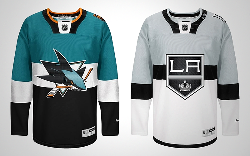 The San Jose Sharksand Los Angeles Kingshave officially unveiled their 2015 NHL Stadium Series jerseys! They will be worn outdoors for a gameat Levi's Stadium on Feb. 21.