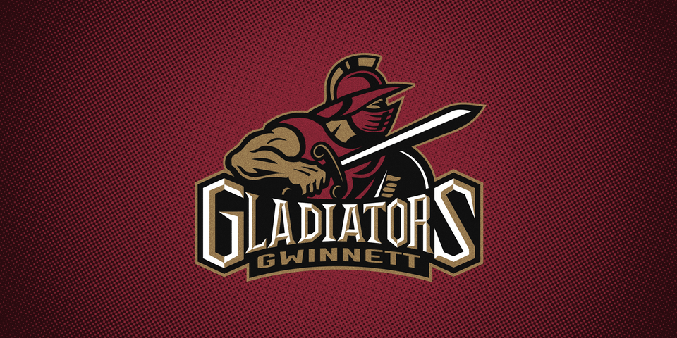 Gwinnett Gladiators primary logo, 2003—