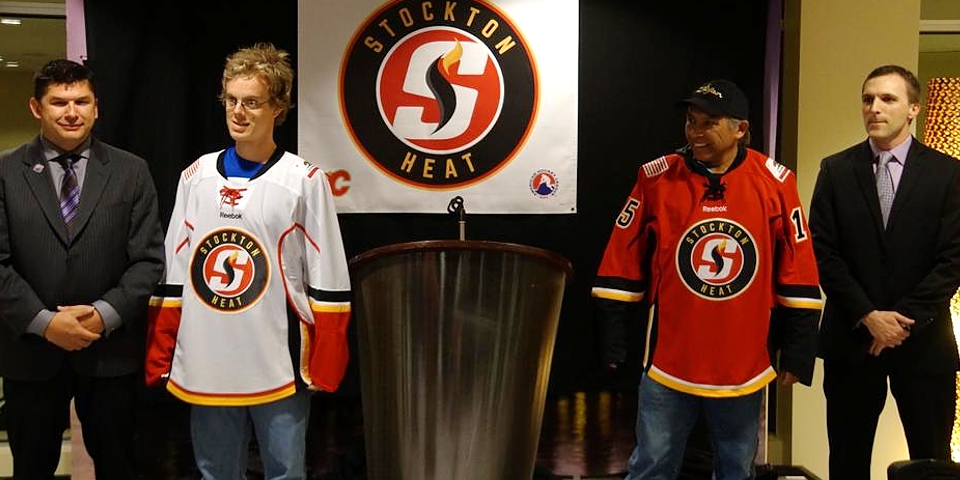 Stockton Heat jerseys /  via @AHLHeat
