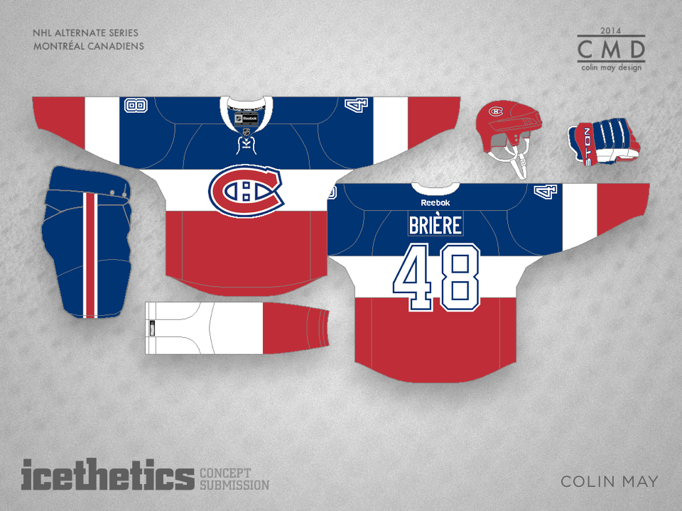 381d49ca0 Freak Out Friday takes us to Montreal this week. Colin May recently designed  a third jersey that s a little out there. But I think it could work!