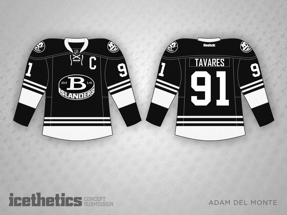 The New York Islanders are expected to have a black and white third jersey  next season when they arrive in Brooklyn. Adam Del Monte would like it to  look ... 0798223cd