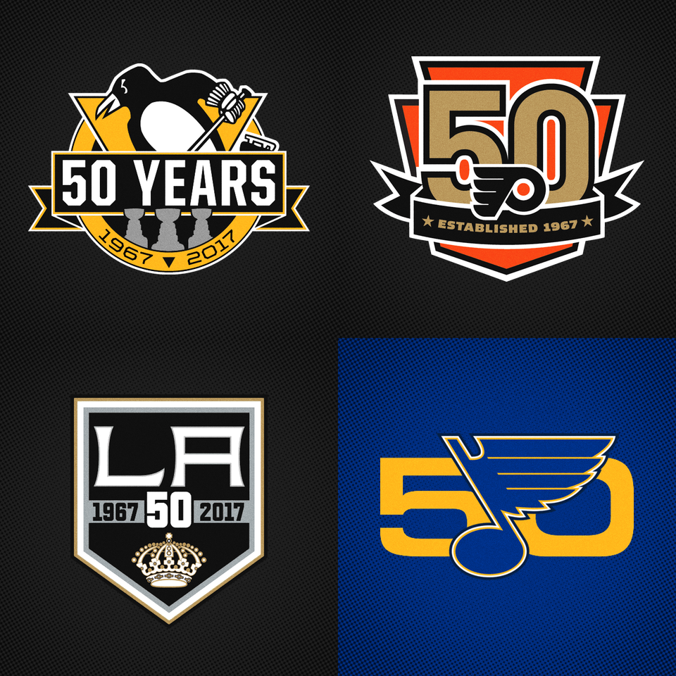 huge discount 785ec 0eb9d Four teams unveil 50th anniversary logos — icethetics.co