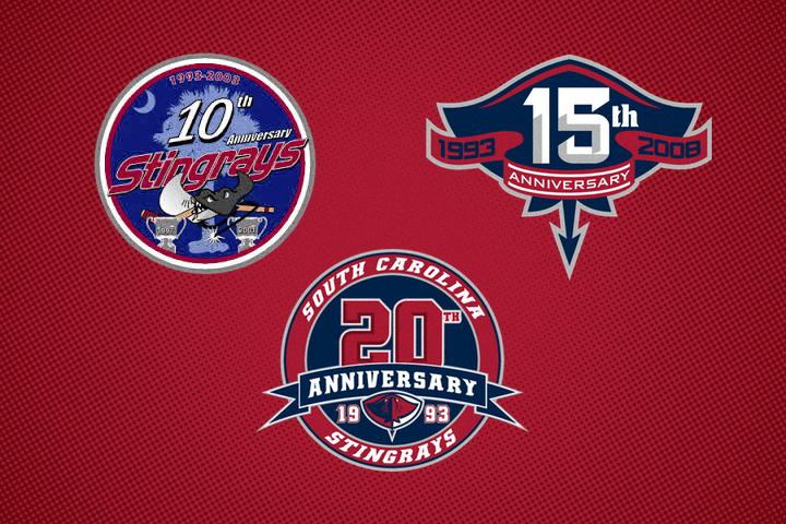 Stingrays Anniversary Logos