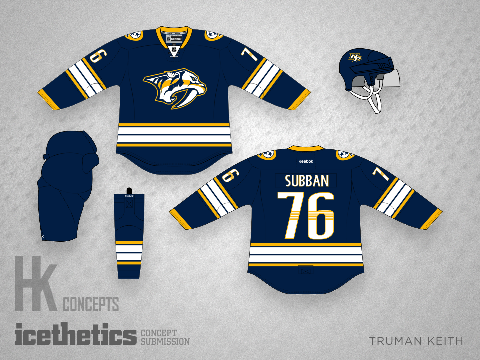 7d3913f59 ... look made for one of the best-looking concepts What teams should have  done in the Adidas sweater switch. Nashville Predators home uniform concept  ...