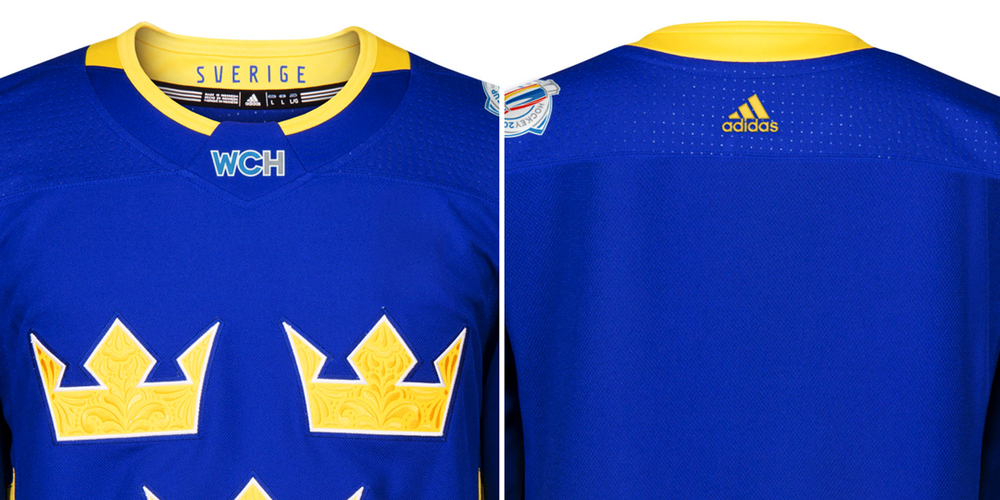 Blue up front, gold out back.