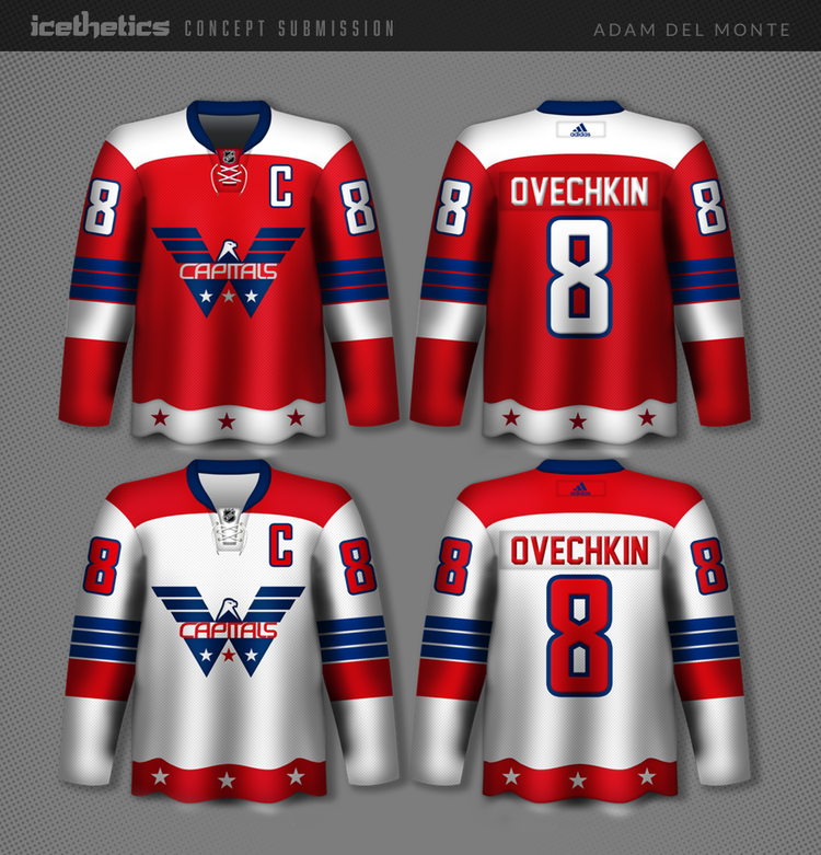 5b10e2a01e4 ... about this Washington Capitals concept by Adam Del Monte that seems  like it could've been real if the team had been founded in the 1950s or  '60s.