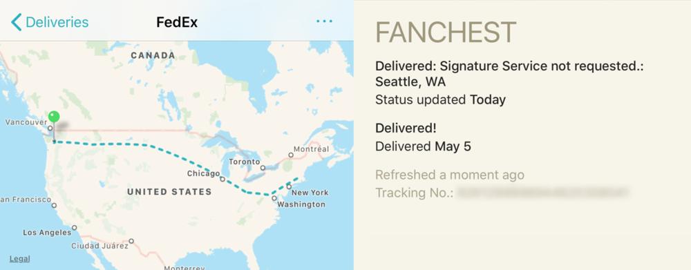 Screenshot from my Junecloud Deliveries iOS app