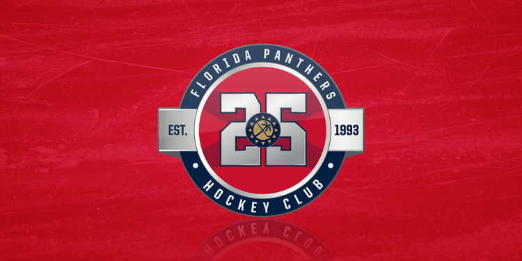 Florida panthers unveil 25th anniversary logo icethetics altavistaventures Image collections
