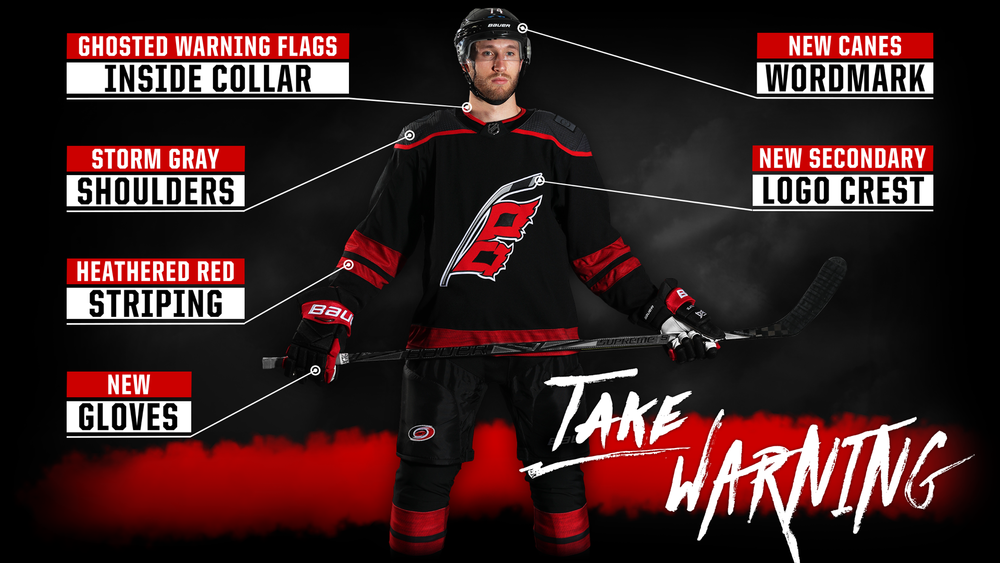 2badb493c28 Hurricanes 'Take Warning' with reveal of new third jersey ...