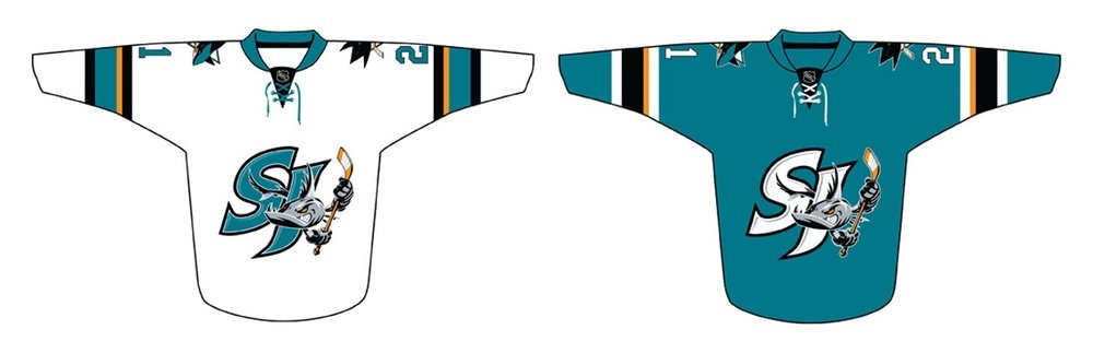 San Jose Barracuda jerseys, 2018—