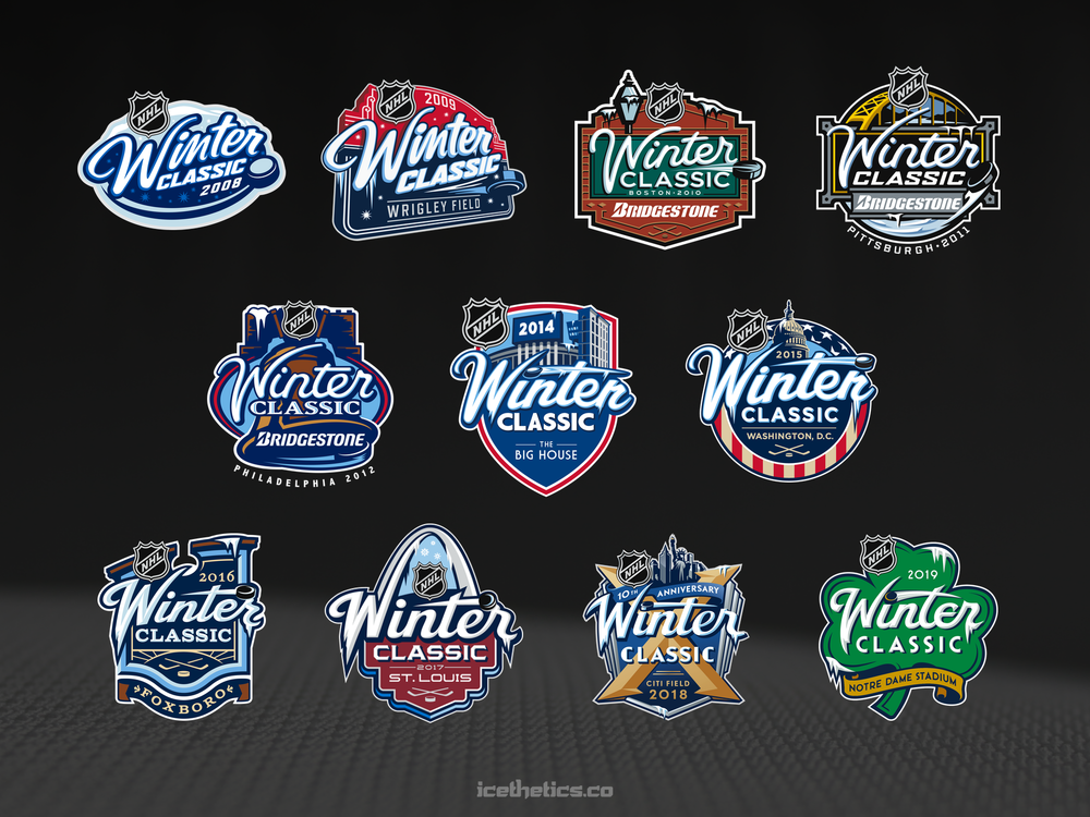 All 11 Winter Classic logos together.