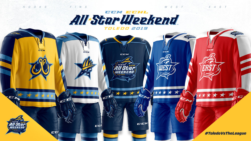 2019 ECHL All-Star Weekend jerseys