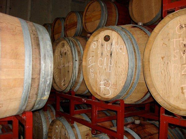 some of 2010 wine in barrel.jpg