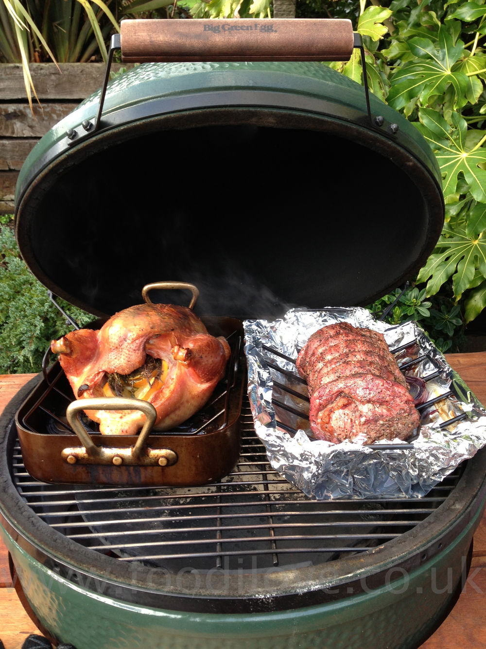 Christmas Lunch On The Braai Cooked On The Biggreenegg