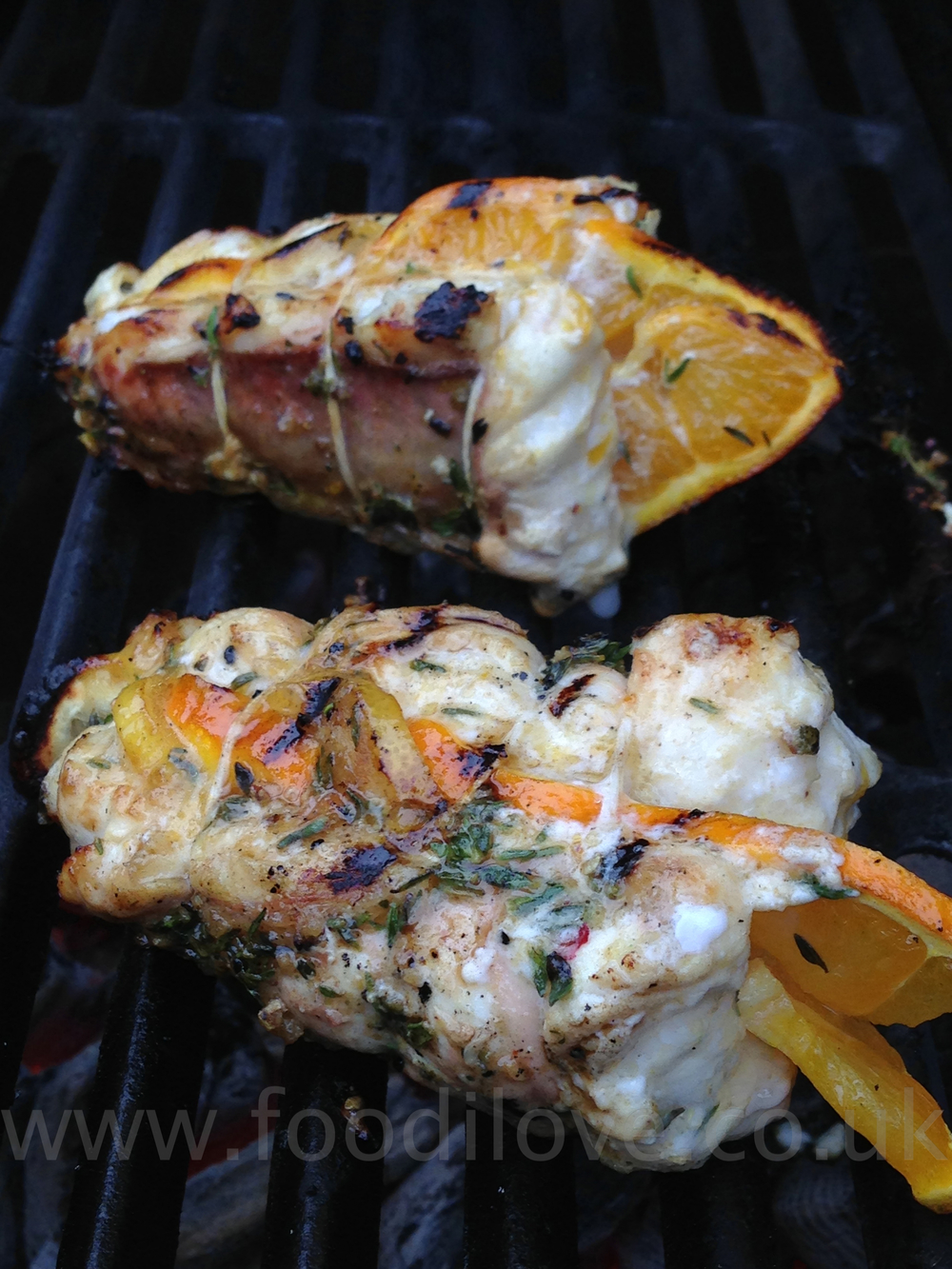 Orange & Lemon Peppered Monkfish on the Braai/BigGreenEgg