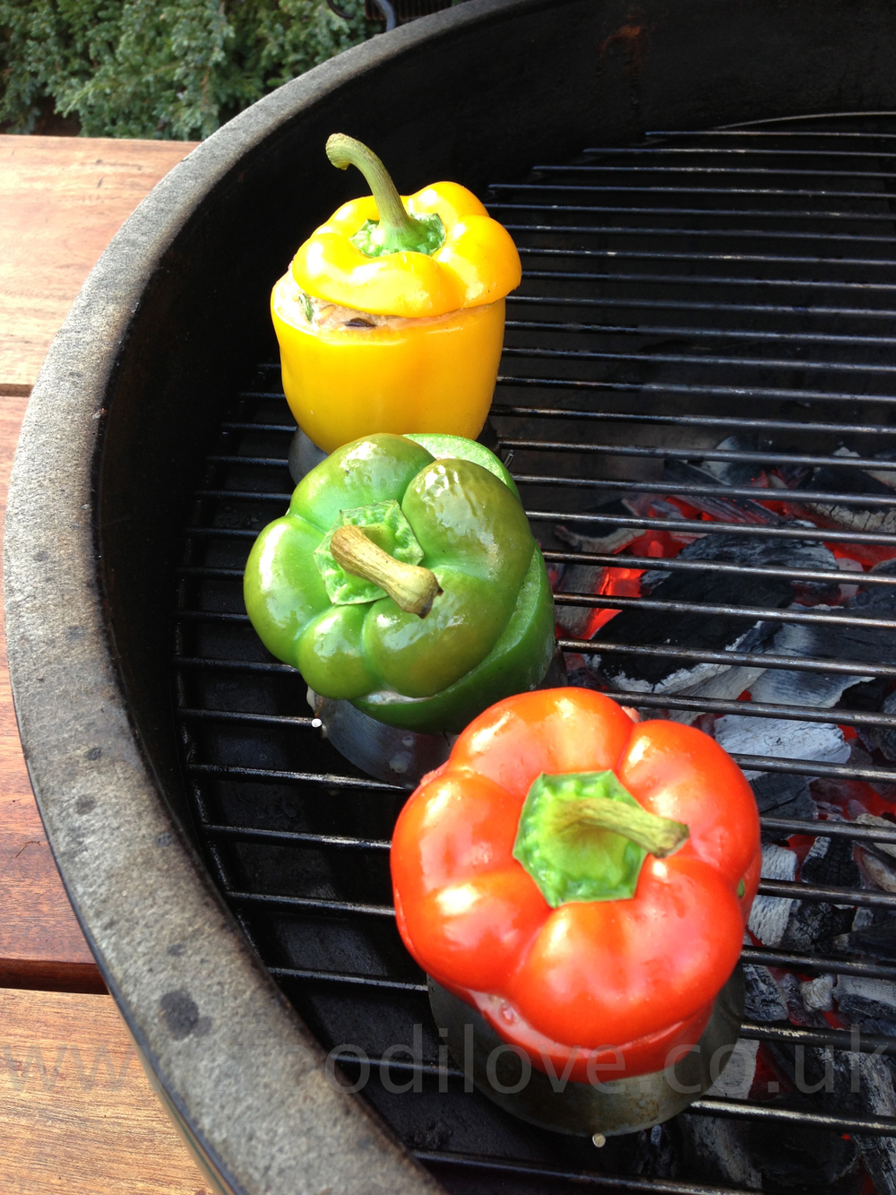 Peppers Stuffed with Boerewors on the Braai