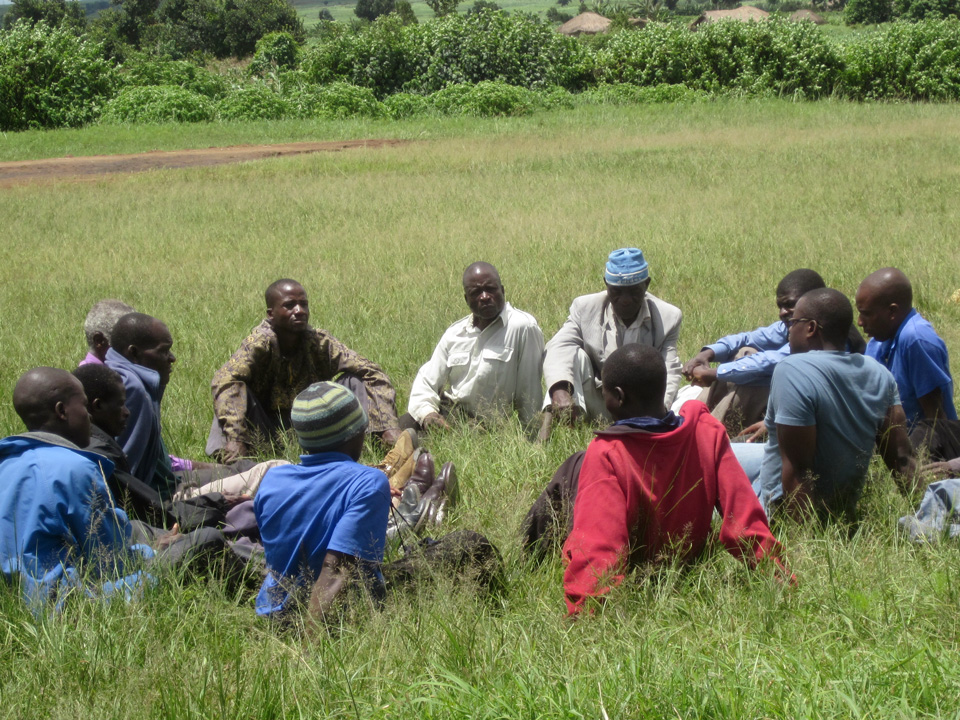Male Care Workers in Malawi sharing during a Maranatha Workshop